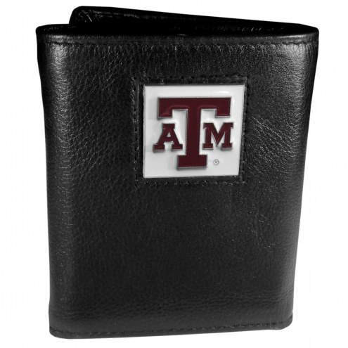 Texas A&M Aggies Deluxe Leather Tri-fold Wallet