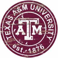 Texas A&M Aggies Distressed Round Sign