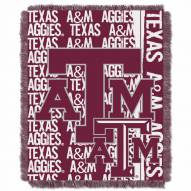 Texas A&M Aggies Double Play Woven Throw Blanket