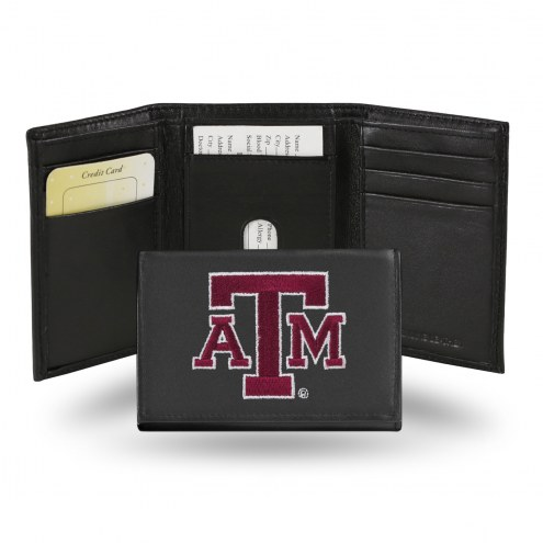 Texas A&M Aggies Embroidered Leather Tri-Fold Wallet