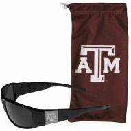 Texas A&M Aggies Etched Chrome Wrap Sunglasses & Bag