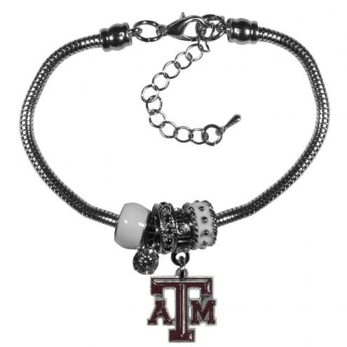 Texas A&M Aggies Euro Bead Bracelet