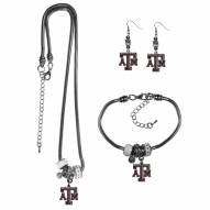 Texas A&M Aggies Euro Bead Jewelry 3 Piece Set