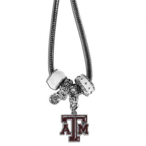 Texas A&M Aggies Euro Bead Necklace