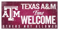 Texas A&M Aggies Fans Welcome Sign