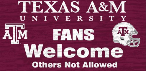 Texas A&M Aggies Fans Welcome Wood Sign