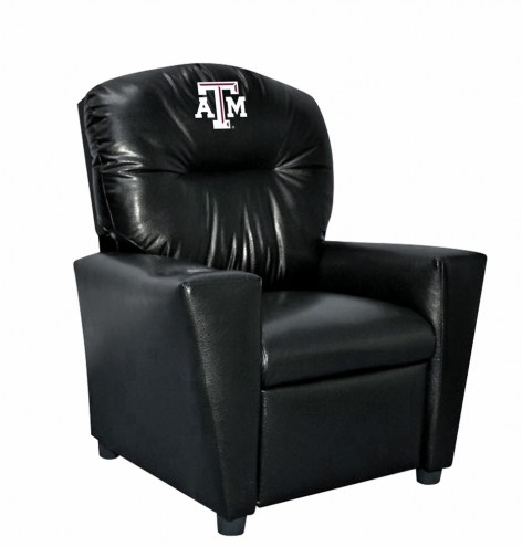 Texas A&M Aggies Faux Leather Kid's Recliner