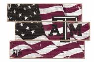 Texas A&M Aggies Flag 3 Plank Sign