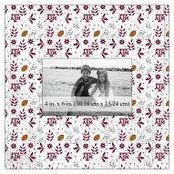 """Texas A&M Aggies Floral Pattern 10"""" x 10"""" Picture Frame"""