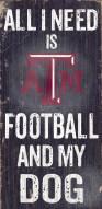 Texas A&M Aggies Football & Dog Wood Sign