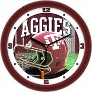 Texas A&M Aggies Football Helmet Wall Clock