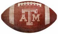 Texas A&M Aggies Football Shaped Sign