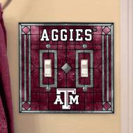 Texas A&M Aggies Glass Double Switch Plate Cover