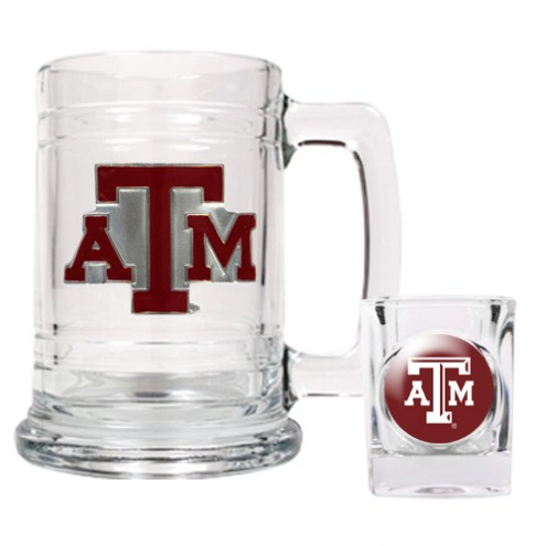 Texas A&M Aggies Glass Mug & Shot Glass Set