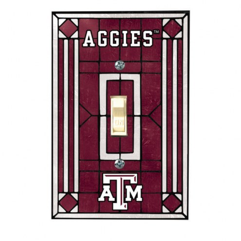 Texas A&M Aggies Glass Single Light Switch Plate Cover