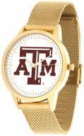 Texas A&M Aggies Gold Mesh Statement Watch