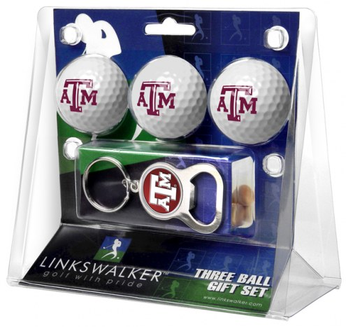 Texas A&M Aggies Golf Ball Gift Pack with Key Chain