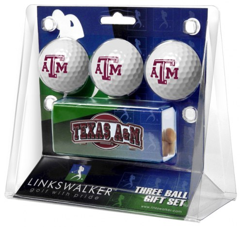 Texas A&M Aggies Golf Ball Gift Pack with Slider Clip