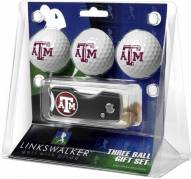 Texas A&M Aggies Golf Ball Gift Pack with Spring Action Divot Tool