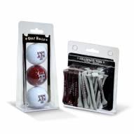 Texas A&M Aggies Golf Ball & Tee Pack