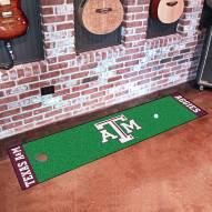 Texas A&M Aggies Golf Putting Green Mat