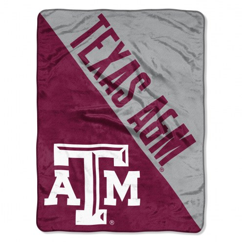 Texas A&M Aggies Halftone Raschel Blanket