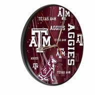 Texas A&M Aggies Digitally Printed Wood Clock