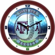 Texas A&M Aggies Home Run Wall Clock