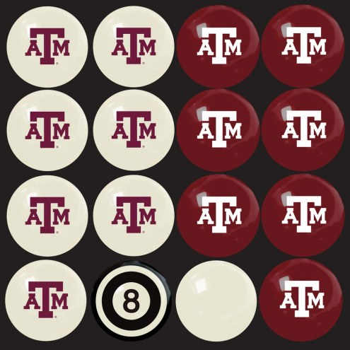 Texas A&M Aggies Home vs. Away Pool Ball Set