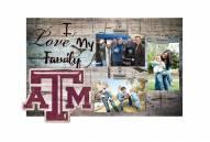 Texas A&M Aggies I Love My Family Clip Frame
