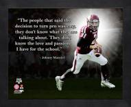 Texas A&M Aggies Johnny Manziel Framed Pro Quote