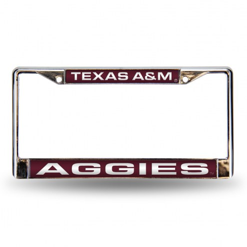 Texas A&M Aggies Laser Chrome License Plate Frame