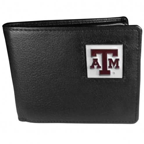 Texas A&M Aggies Leather Bi-fold Wallet in Gift Box