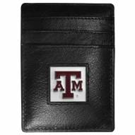 Texas A&M Aggies Leather Money Clip/Cardholder in Gift Box