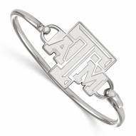 Texas A&M Aggies Sterling Silver Wire Bangle Bracelet