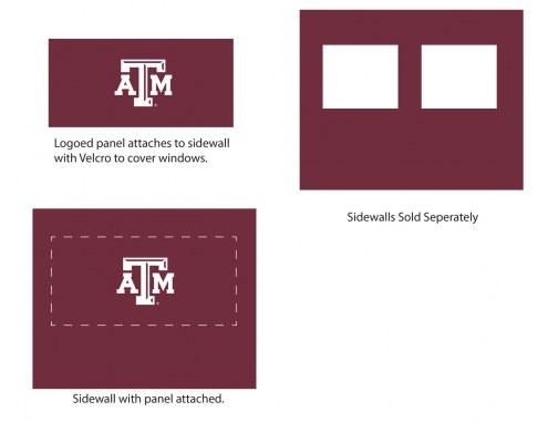 Texas A&M Aggies Logo Canopy Sidewall Panel (Attaches to Window Sidewall)