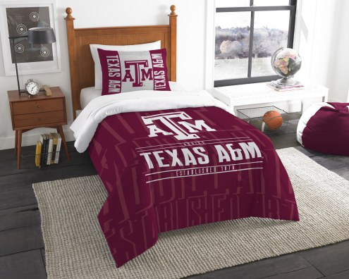 Texas A&M Aggies Modern Take Twin Comforter Set