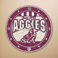 Texas A&M Aggies NCAA Stained Glass Wall Clock
