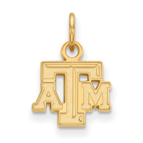 Texas A&M Aggies NCAA Sterling Silver Gold Plated Extra Small Pendant