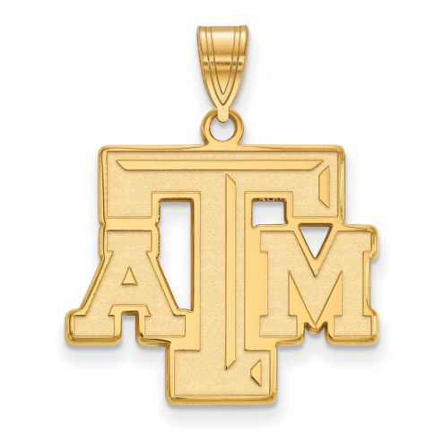 Texas A&M Aggies NCAA Sterling Silver Gold Plated Large Pendant