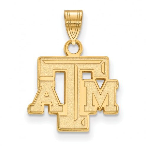 Texas A&M Aggies NCAA Sterling Silver Gold Plated Small Pendant