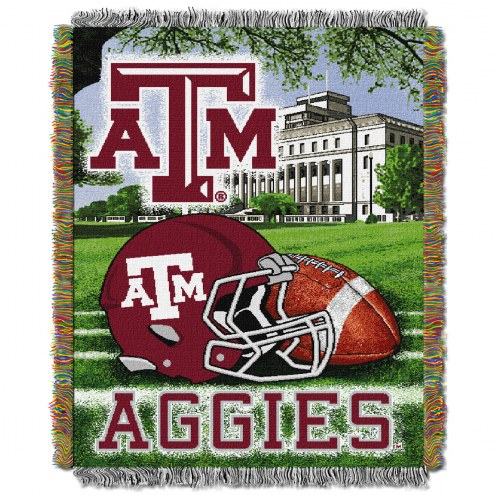 Texas A&M Aggies NCAA Woven Tapestry Throw / Blanket