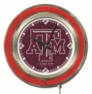 Texas A&M Aggies Neon Clock