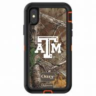 Texas A&M Aggies OtterBox iPhone X Defender Realtree Camo Case