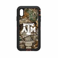 Texas A&M Aggies OtterBox iPhone XS Max Defender Realtree Camo Case