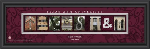 Texas A&M Aggies Personalized Campus Letter Art