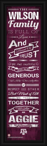 Texas A&M Aggies Personalized Family Cheer Framed Art
