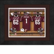 Texas A&M Aggies Personalized Locker Room 13 x 16 Framed Photograph