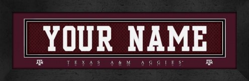 Texas A&M Aggies Personalized Stitched Jersey Print
