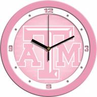 Texas A&M Aggies Pink Wall Clock